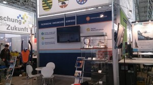 Stand at the Hannover Messe fair 2015, Hannover, Germany